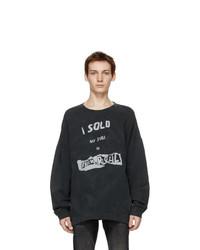 R13 Black I Sold My Soul Oversized Sweatshirt