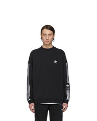 adidas Originals Black Lock Up Crew Sweatshirt