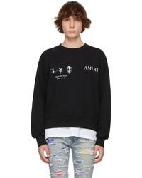 Amiri Black Medical Hemp Sweatshirt