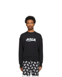 MSGM Black New Logo Sweatshirt