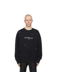Givenchy Black Oversized Metal Detailing Sweatshirt