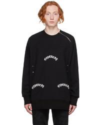 Givenchy Black Oversized Metallic Detail Sweatshirt