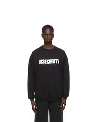 Vetements Black Print Insecurity Sweatshirt