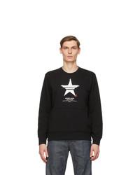 Neil Barrett Black Print Sport Star Sweatshirt