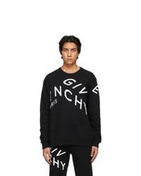 Givenchy Black Refracted Logo Sweatshirt