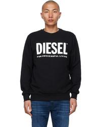 Diesel Black S Gir Division Logo Sweatshirt