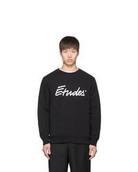 Études Black Signature Logo Sweatshirt