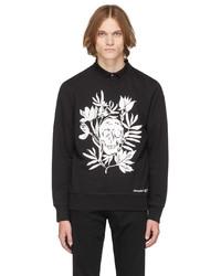 Alexander McQueen Black Skull Leaves Sweatshirt