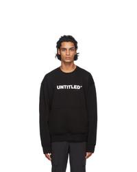 Neil Barrett Black Untitled Sweatshirt