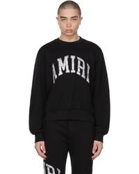 Amiri Black Varsity Sweatshirt