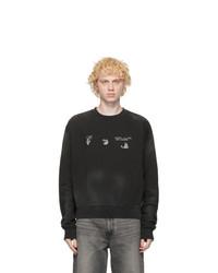 Off-White Black Vintage Logo Sweatshirt