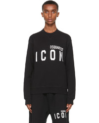 DSQUARED2 Black White Icon Sweatshirt