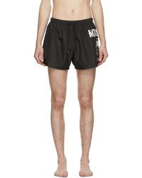 Moschino Black Double Question Mark Swim Shorts