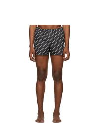 Vetements Black Logo Allover Swim Shorts