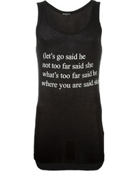 Ann Demeulemeester Quote Print Tank Top