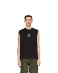 Stella McCartney Black Shared Obs 23 Sleeveless T Shirt