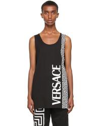 Versace Black White Logo Tank Top