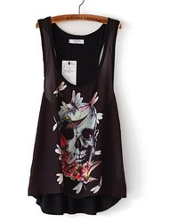 ChicNova Skull Print Loose Fit Tank