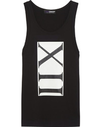 DKNY Cara Delevingne Printed Cotton Jersey Tank
