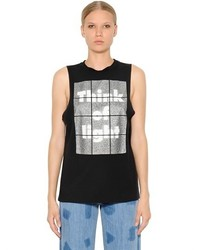 EACH X OTHER Glitter Print Cotton Jersey Tank Top