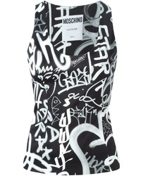 Moschino Graffiti Print Tank Top