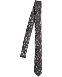 Black and White Print Tie