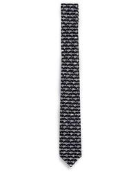 Topman Black And White Shark Print Tie