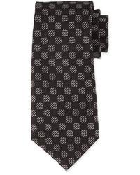 Tom Ford Large Dot Print Silk Tie Whiteblack