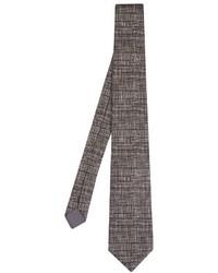 Bottega Veneta Weave Print Cotton And Silk Blend Tie