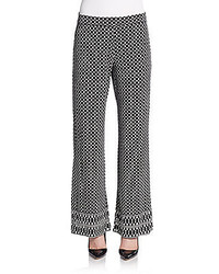 Printed wide leg pants medium 388086