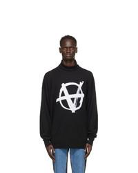Vetements Black Knit Anarchy Turtleneck