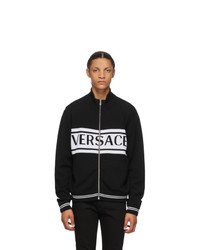 Versace Black And White Logo Sweater