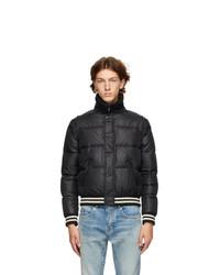 Saint Laurent Black Down Official Galon Jacket