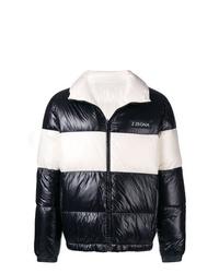 Z Zegna Contrast Stripe Padded Jacket