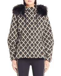 Fendi Deco F Technical Coat With Genuine Fox