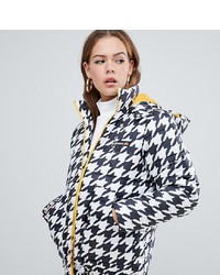 Ellesse Padded Jacket With Contrast Lining In Houndstooth