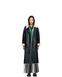 Stand Studio Black And White Faux Leather Nino Coat