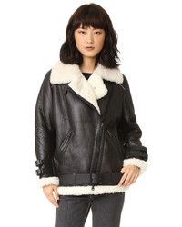 Velocite shearling moto coat medium 1327810