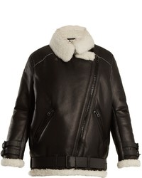 Black and white shearling jacket original 10140008