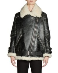 Acne Studios Shearling Leather Oversized Vintage Moto Jacket