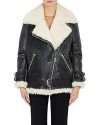 Acne Studios Velocite Leather Moto Jacket Black