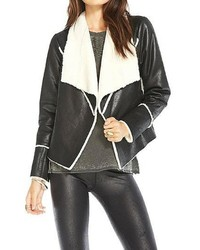 Chaser Brand Faux Suede Fur Jacket