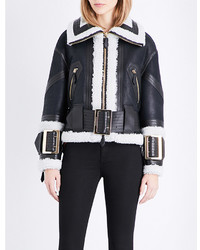 Burberry Cheshire Leather Biker Jacket