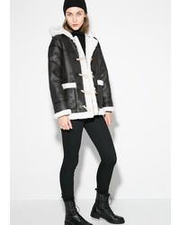Mango Faux Shearling Lined Jacket