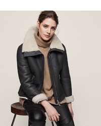 Reiss Fulton Shearling Aviator Jacket