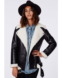 Black Sheepskin Jacket Womens - My Jacket