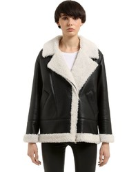 New zealand shearling fur jacket medium 6834157