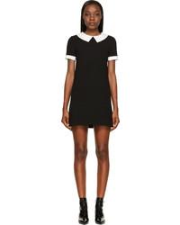 Saint Laurent Black Collared Shift Dress