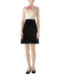 Gucci Ed Satin A Line Dress
