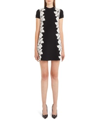 Valentino Lace Overlay Knit Dress